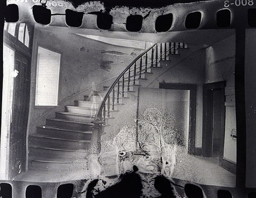 Image below right distressed negative by christina z andersons student brent losing 2002