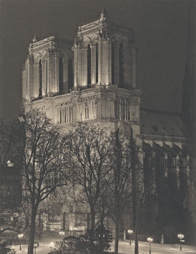Notre Dame by Gary Auerbach in Platinotype