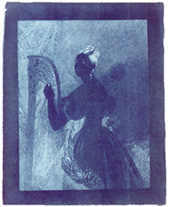 III) Lady with harp, photograhy by John Herschel