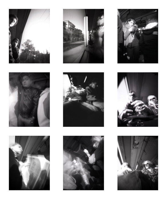 Pinhole hidden On the bus