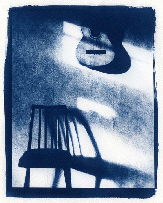 Cyanotype Guitar & chair