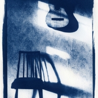 Cyanotype Guitar & chair