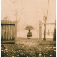 Lith print Under umbrella