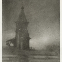 Bromoil Kondopoga church - Karelia