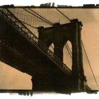 Gum over palladium Brooklyn Bridge