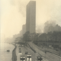 Palladium print Fog over the city