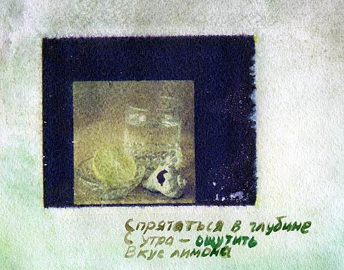 Polaroid transfer Lemon