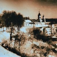 Lith print Winter in vladimir