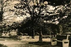 Lith print Bench and lantern