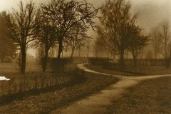 Lith print Turn of the road