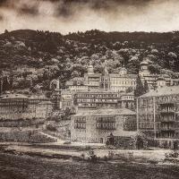 Saint Athos. The Monastery of Panteleimon 112x80