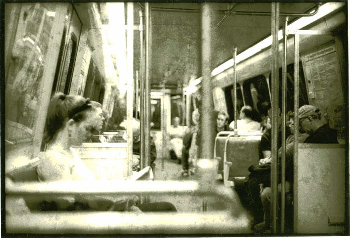 Lith print Metro Rail Car