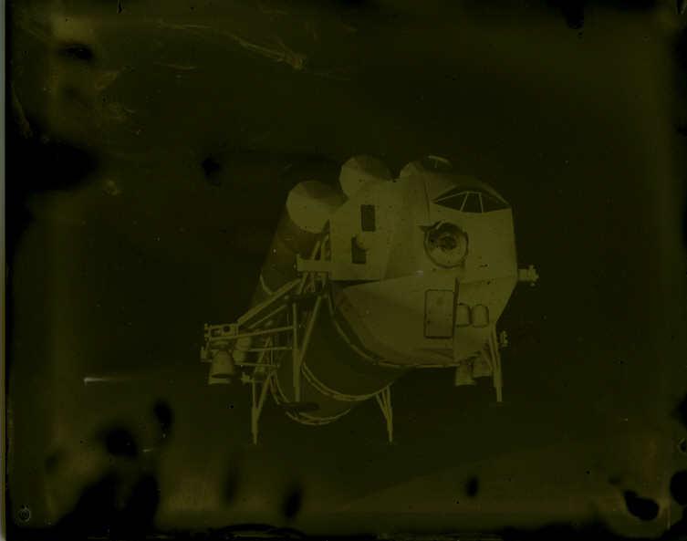 Tintype modern Lunar Space Shuttle