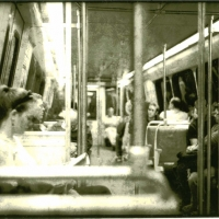 Lith print Metro Rail Car