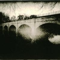 Lith print Monacacy Aqueduct Arista Paper