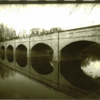 Lith print Monacacy Aqueduct Kentmere Paper