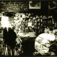 Lith print Tea Shop in Wintertime