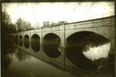 Lith print Monacacy Aqueduct Kentmere Paper