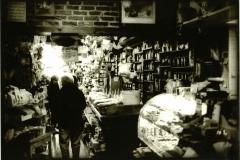 Lith print Tea Shop in Wintertime
