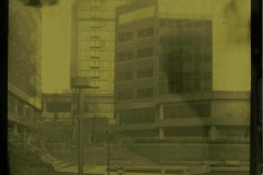 Tintype modern Old Town Waterfront Buildings