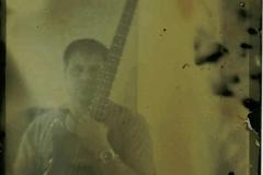 Tintype modern Self Portrait Me and My Bass