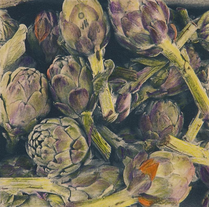 Cyanotype handcolored Provence