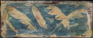 Cyanotype handcolored Taking Flight on Wood