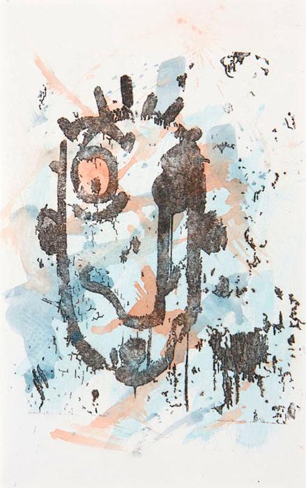 Handcoloured transfer Voila