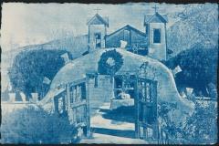 Cyanotype handcolored El Santuario de Chimayo_I