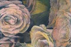Cyanotype handcolored Menican Roses