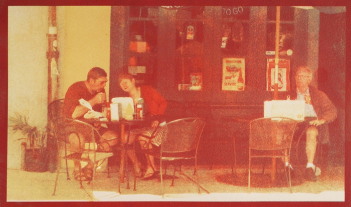 Tricolor gum Al Fresco, New Orleans