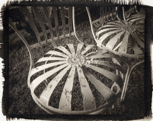 Platinum palladium pinhole Old Chairs