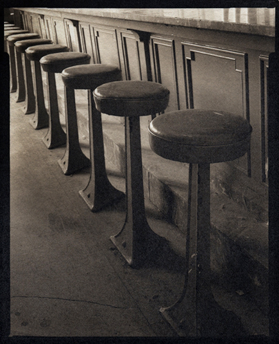 Platinum palladium print Soda Fountain Stools