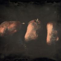 Dry plate Three Red Pears