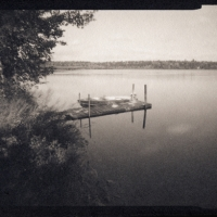 Platinum palladium pinhole Dock and Boat