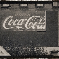 Platinum palladium print Coke on the Wall