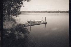 Platinum palladium pinhole Dock and Boat