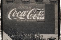 Platinum palladium print Coke on the Wall