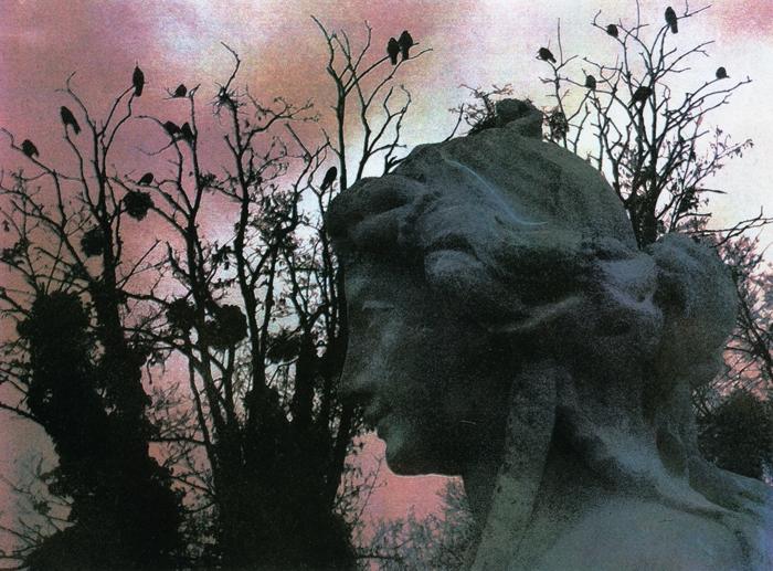 Temperaprint Sculpture Garden Dusk