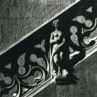 Solarplate intaglio Lady on the Stairs