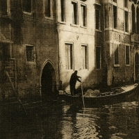 Solarplate intaglio On the Canal