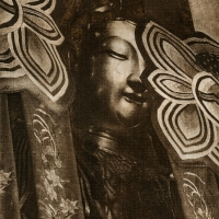 Solarplate intaglio Golden Buddha Jade Buddha Temple