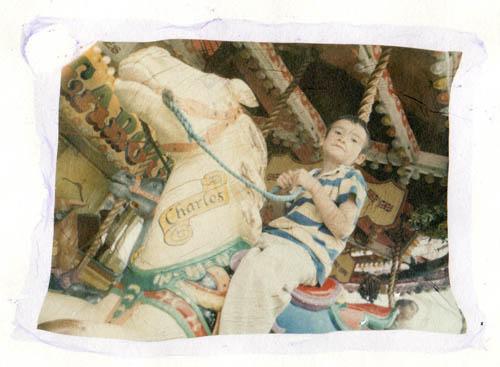 Polaroid transfer Ewan at the fair