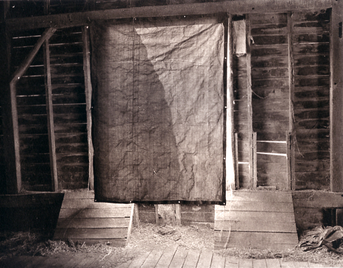 Photogravure Barn Interior