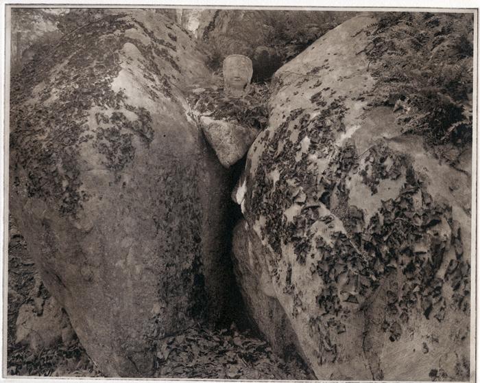 Photogravure Buddha Head