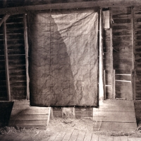 Photogravure Barn Interior