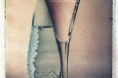 Polaroid image transfer Water glass