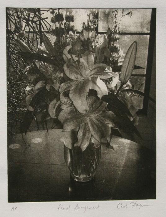 Intaglio print Floral Arrangement