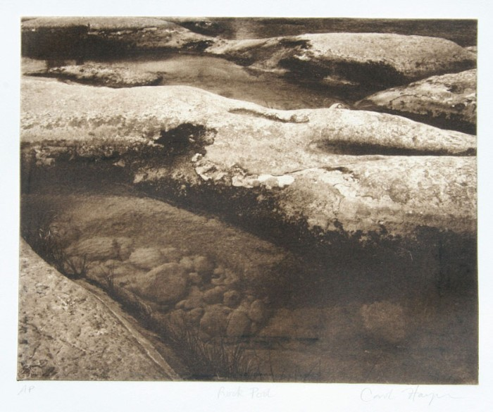 Intaglio print Rock Pool