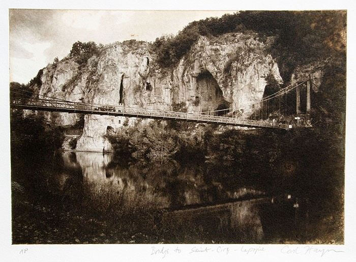 Photo-Intaglio-Bridge-to-Saint-Cirq-Lapopie